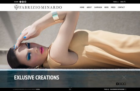 Sito Ufficiale di Fabrizio Minardo: Haute couture, Collections, Campaign, Press, News - Ragusa