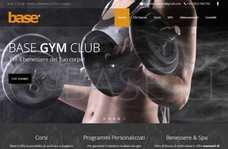 Sito Web per BASE | CLUB - Fitness, Wellness & SPA a Comiso